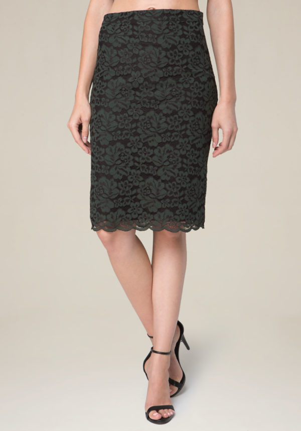 Floral Lace 2-Tone Skirt at bebe in Sherman Oaks, CA | Tuggl