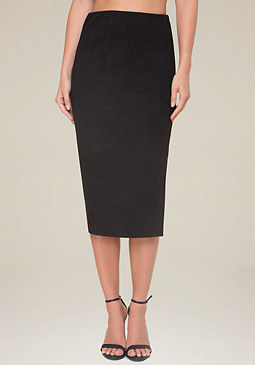 bebe Pebble Faux Suede Skirt