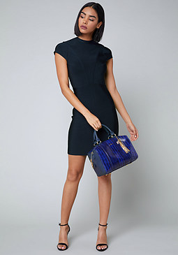 bebe Daisy Cap Sleeve Dress