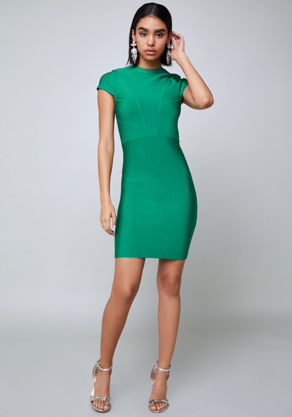 Daisy Cap Sleeve Dress at bebe in Sherman Oaks, CA | Tuggl