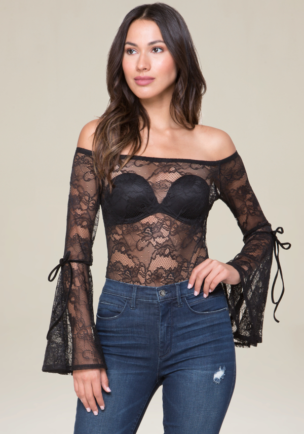 Bell Sleeve Bodysuit at bebe in Sherman Oaks, CA | Tuggl