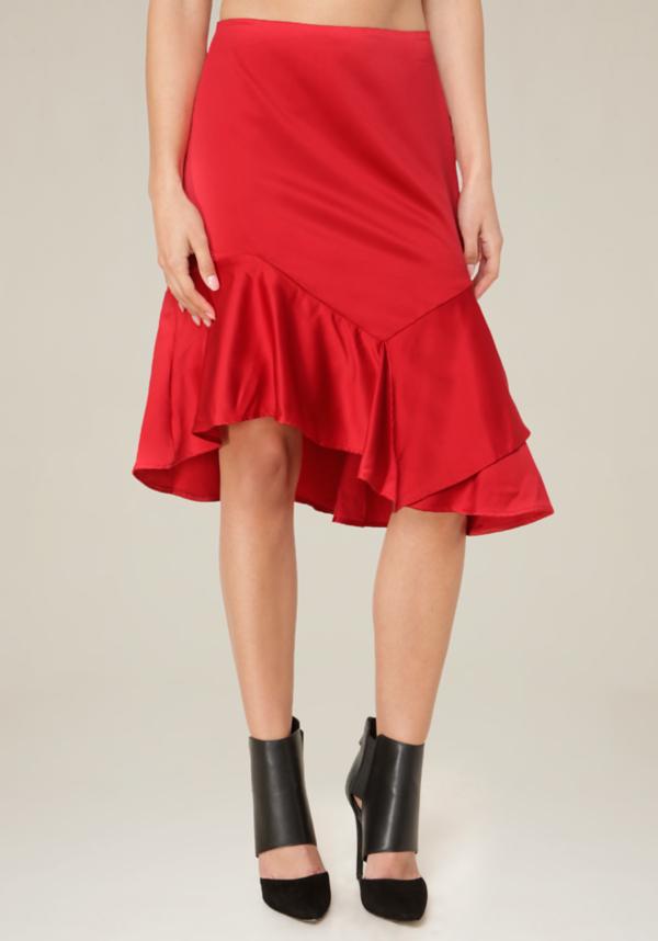 Asymmetric Ruffle Skirt at bebe in Sherman Oaks, CA | Tuggl