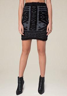 Tribal Eyelash Miniskirt