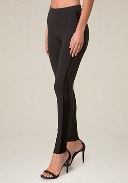 bebe Kara Velvet Leggings