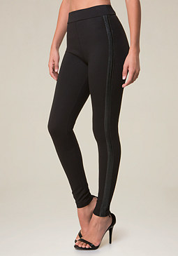 bebe Stacy Faux Leather Leggings