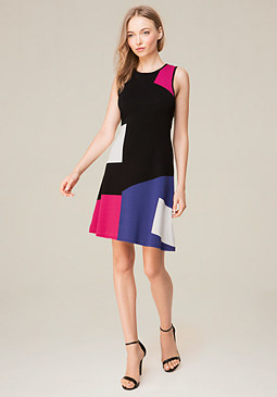 bebe Colorblock Knit Dress
