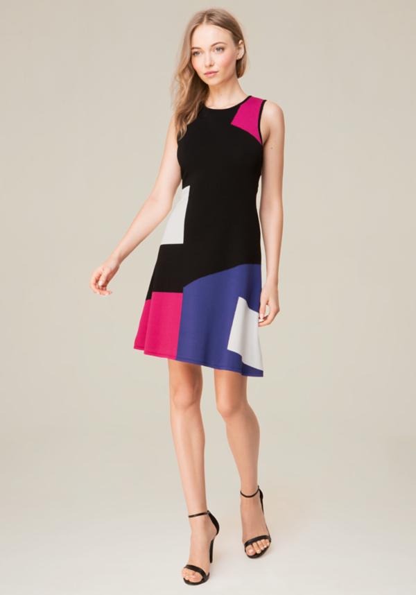 Colorblock Knit Dress at bebe in Sherman Oaks, CA | Tuggl