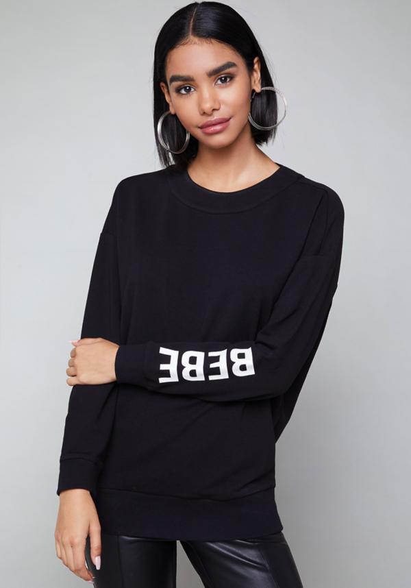 Logo Back Cutout Sweatshirt at bebe in Sherman Oaks, CA   Tuggl