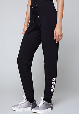 bebe Logo Metallic Stripe Pants