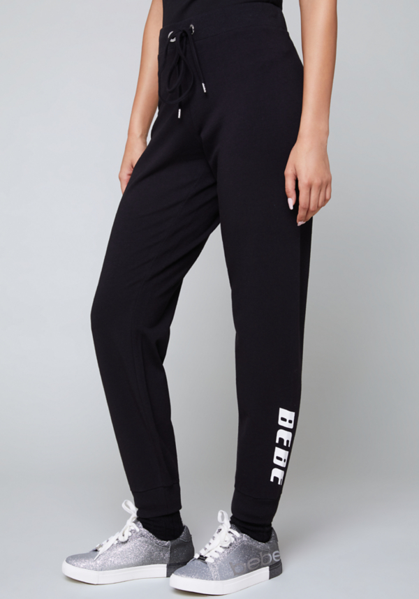 Logo Metallic Stripe Pants at bebe in Sherman Oaks, CA | Tuggl
