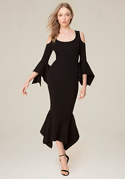 bebe Cold Shoulder Knit Dress