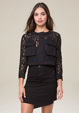 bebe Corded Lace Jacket