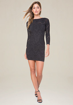 bebe Scoopback Bodycon Dress