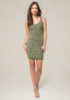 V-Neck Seamless Mini Dress