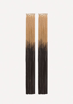 bebe Ombre Long Fringe Earrings