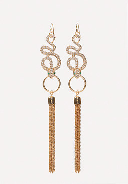 bebe Snake & Tassel Earrings