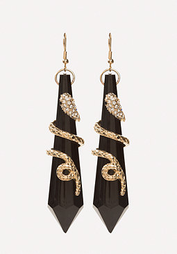 bebe Snake Pendant Earrings