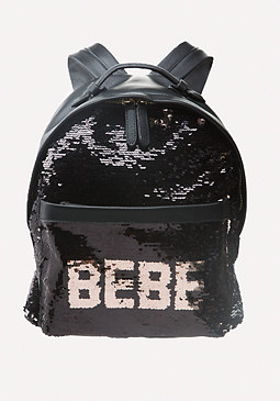 bebe Logo Sequin Backpack