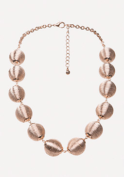 bebe Metallic Thread Necklace
