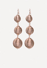 bebe Metallic Thread Earrings