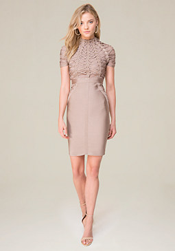 bebe Tie Bodice Dress