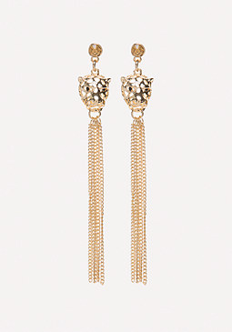 bebe Leopard Duster Earrings