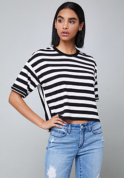 bebe Charlie Striped Top