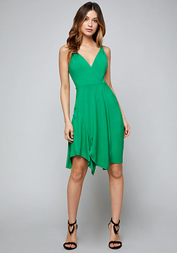 bebe Colby Faux Wrap Dress