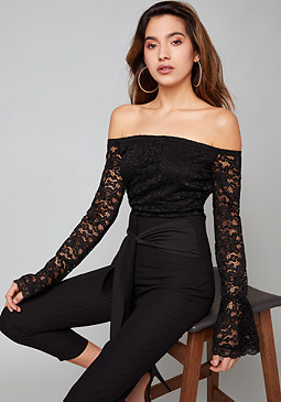 bebe Kelsi Off Shoulder Top