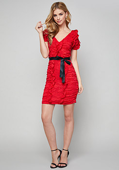 bebe Eliana Ruffled Lace Dress