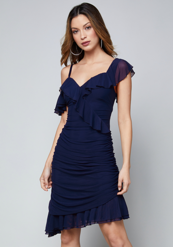 Lisa Ruched Dress at bebe in Sherman Oaks, CA | Tuggl