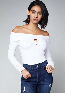 bebe Roxy Ribbed Bodysuit