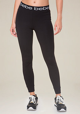 bebe Logo Stretch Waist Leggings