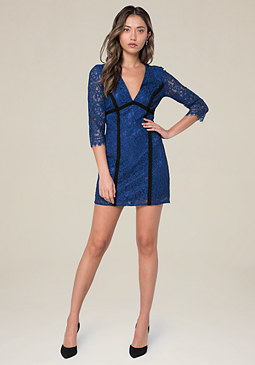 bebe Aston Lace Dress