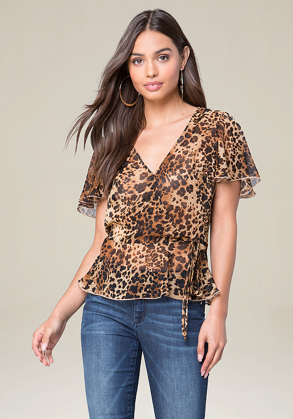 Print Surplice Top