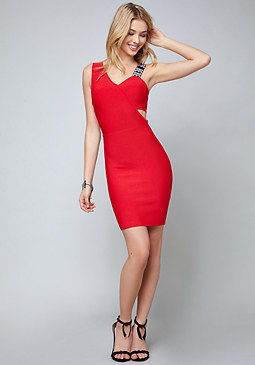 bebe Logo Topanga Fitted Dress