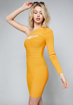 bebe Briana One Shoulder Dress