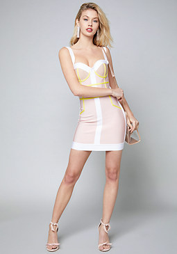 bebe Rhia Bustier Bandage Dress