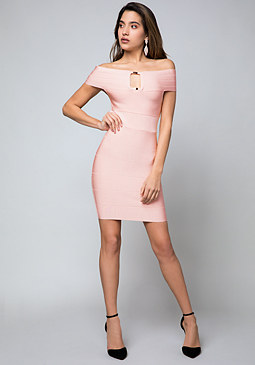 bebe Shoshanna Bandage Dress