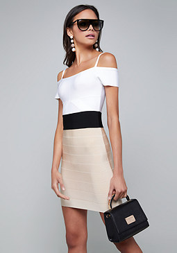 bebe Alisa Colorblock Dress