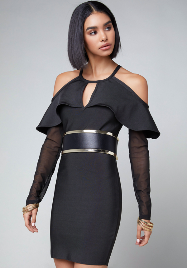 Cold Shoulder Bandage Dress at bebe in Sherman Oaks, CA | Tuggl