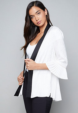 bebe Kara Pleated Jacket