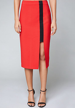 bebe Cutout Slit Skirt