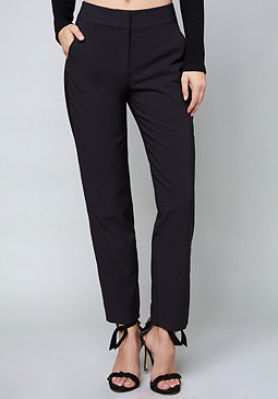 bebe Side Stripe Step Hem Pants