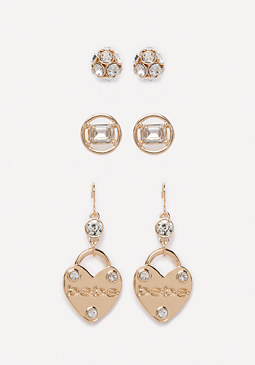 bebe Logo Heart Trio Set