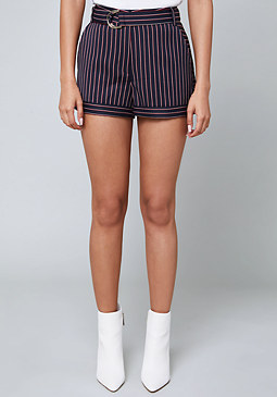 bebe Anna Striped Shorts