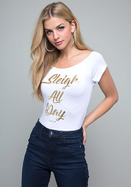 bebe Logo Sleigh All Day Tee