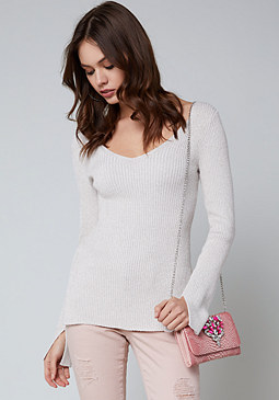 bebe Kiara Back Lace Up Sweater