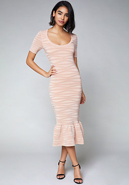 bebe Whitney Midi Dress