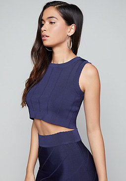 bebe Seamed Look Crop Top